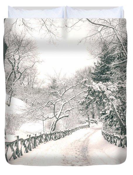Central Park Winter Landscape Duvet Cover by Vivienne Gucwa