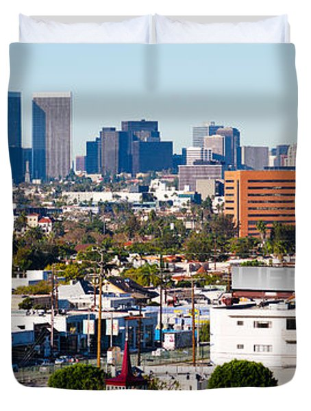 Century City, Beverly Hills, Wilshire Duvet Cover by Panoramic Images