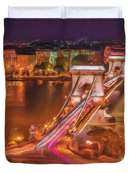 Chain Bridge Duvet Cover by Ayse Deniz