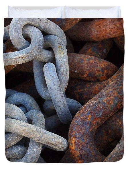 Chain Links Duvet Cover by Carlos Caetano