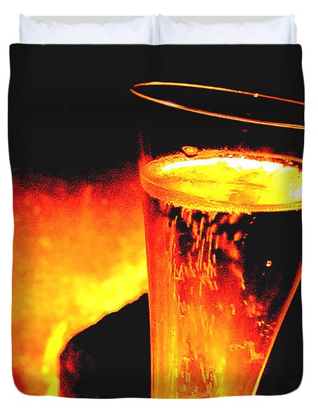 Champagne Wishes Duvet Cover by Jerome Stumphauzer