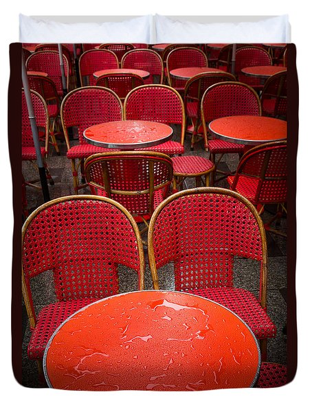 Champs Elysees Cafe Duvet Cover by Inge Johnsson