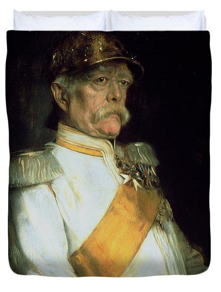 Chancellor Otto Von Bismarck Duvet Cover by Franz Seraph von Lenbach