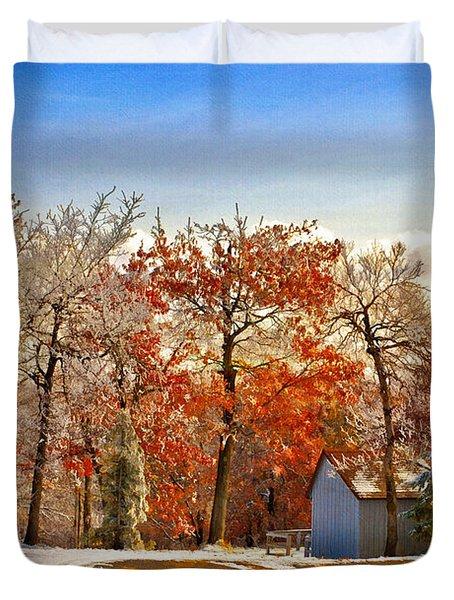 Change of Seasons Duvet Cover by Lois Bryan