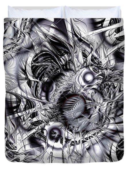 Chaotic Space Duvet Cover by Anastasiya Malakhova