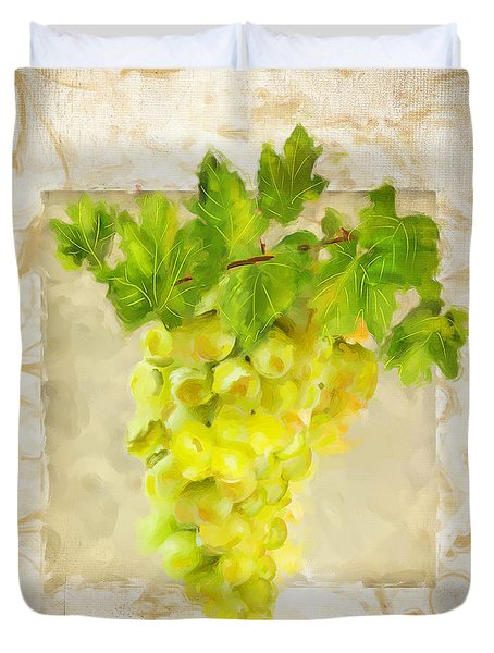 Chardonnay II Duvet Cover by Lourry Legarde