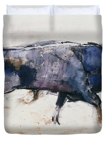 Charging Bull Duvet Cover by Mark Adlington