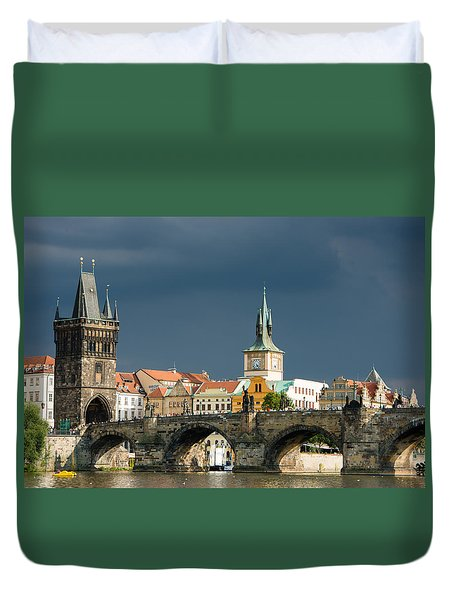 Charles Bridge Prague Duvet Cover by Matthias Hauser