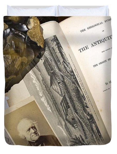Charles Lyells Antiquity Of Man 1863 Duvet Cover by Paul D Stewart