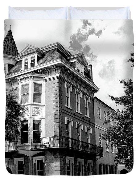 Charleston Corner Charleston Sc Duvet Cover by William Dey