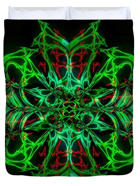 Charlotte's New Freakin' Awesome Neon Web Duvet Cover by Elizabeth McTaggart