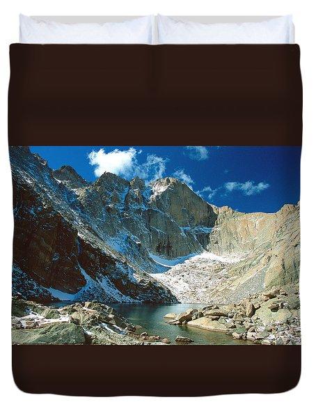 Chasm Lake Duvet Cover by Eric Glaser