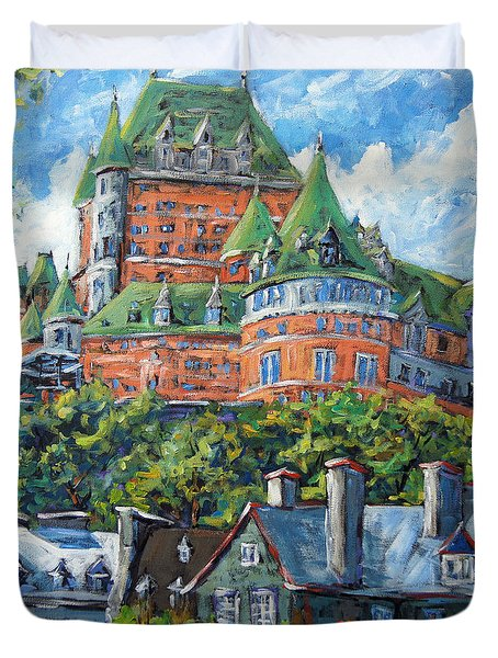 Chateau Frontenac By Prankearts Duvet Cover by Richard T Pranke
