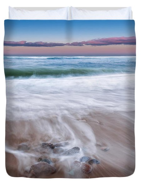 Chatham Sunset Duvet Cover by Bill  Wakeley