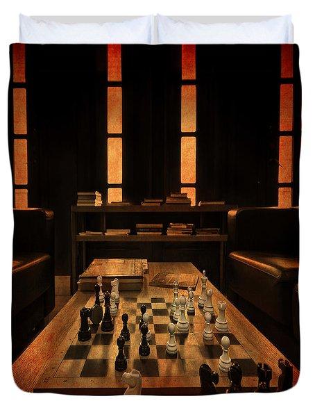 Checkmate Duvet Cover by Evelina Kremsdorf