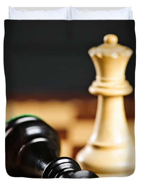 Checkmate In Chess Duvet Cover by Elena Elisseeva
