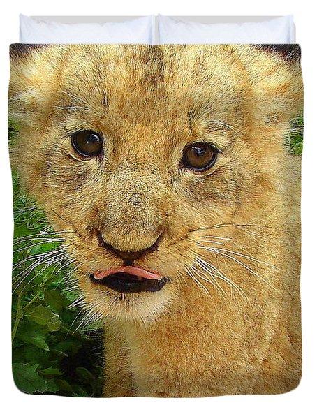 Cheeky Cub Duvet Cover by Ramona Johnston