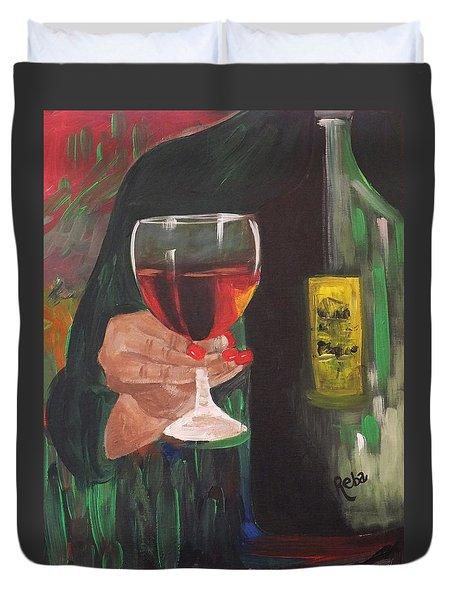 Cheers Duvet Cover by Reba Baptist