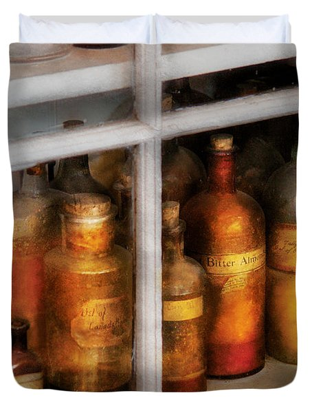 Chemist - Flavor Lab Duvet Cover by Mike Savad