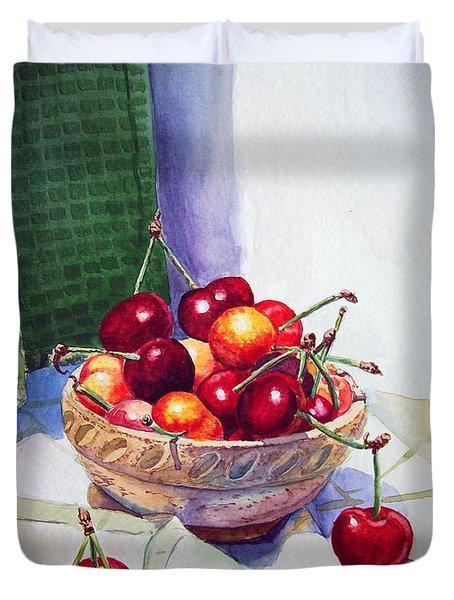 Cherries Duvet Cover by Irina Sztukowski