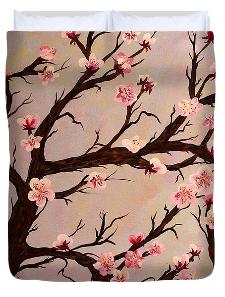 Cherry Blossom 1 Duvet Cover by Barbara Griffin