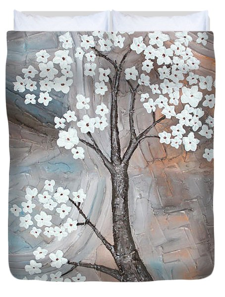 Cherry Blossom Duvet Cover by Home Art