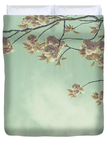 Cherry Blossom in Fulwood Park Duvet Cover by Nomad Art And  Design