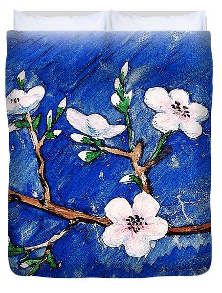 Cherry Blossoms Duvet Cover by Irina Sztukowski