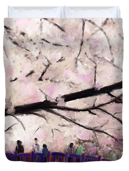 Cherry Blossoms Duvet Cover by Kume Bryant