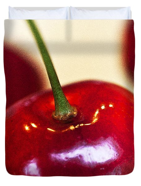Cherry Still Life Duvet Cover by Heiko Koehrer-Wagner