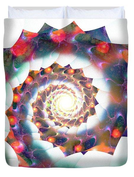 Cherry Swirl Duvet Cover by Anastasiya Malakhova