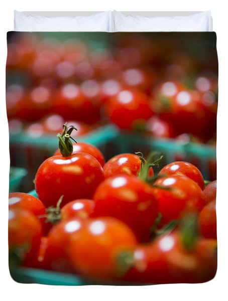 Cherry Tomatoes Duvet Cover by Caitlyn  Grasso