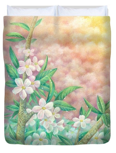 Cherryblossoms Duvet Cover by Charity Goodwin