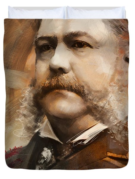 Chester A. Arthur Duvet Cover by Corporate Art Task Force