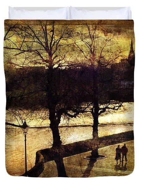 Chester Riverwalk Duvet Cover by Mal Bray