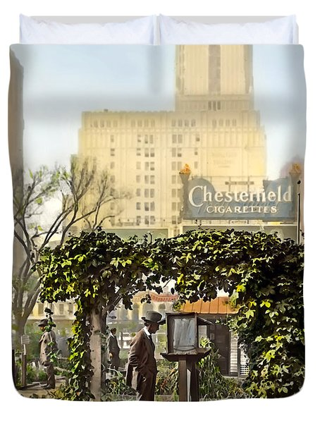 Chesterfield Cigarettes Duvet Cover by Terry Reynoldson