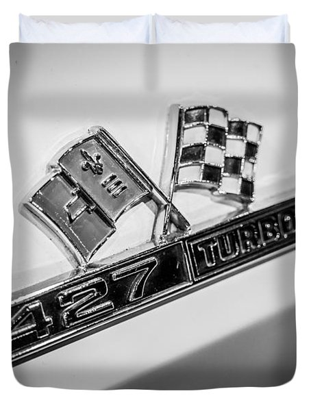 Chevy Corvette 427 Turbo-Jet Emblem Duvet Cover by Paul Velgos