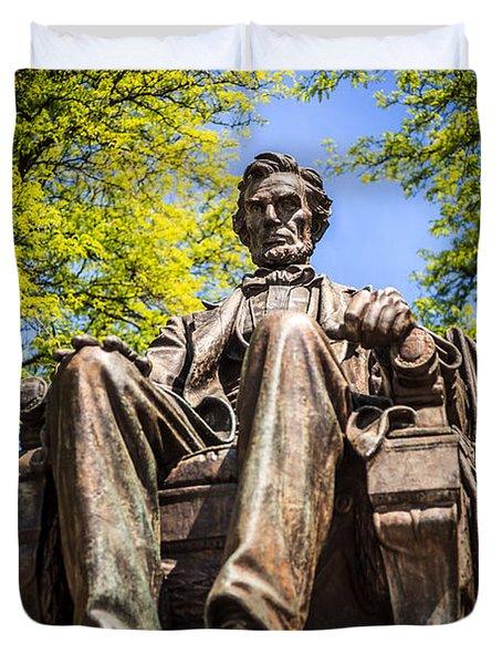 Chicago Abraham Lincoln Sitting Statue Duvet Cover by Paul Velgos