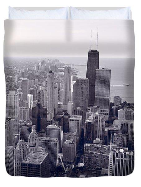 Chicago Bw Duvet Cover by Steve Gadomski