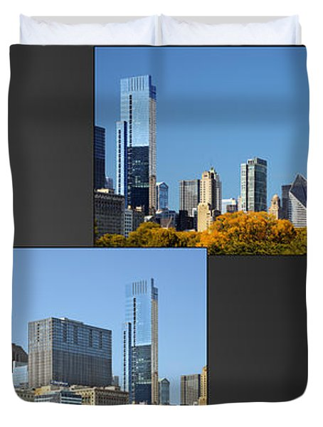 Chicago City of Skyscrapers Duvet Cover by Christine Till