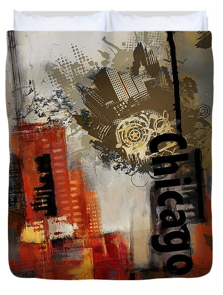Chicago Collage Duvet Cover by Corporate Art Task Force
