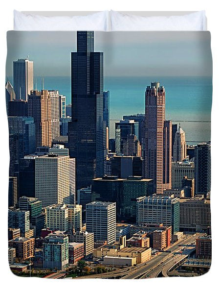 Chicago Highways 05 Duvet Cover by Thomas Woolworth