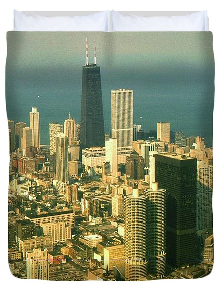 Chicago Illinois Downtown Skyline - Architecture Duvet Cover by Peter Fine Art Gallery  - Paintings Photos Digital Art