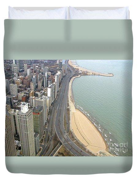 Chicago Lakeshore Duvet Cover by Ann Horn