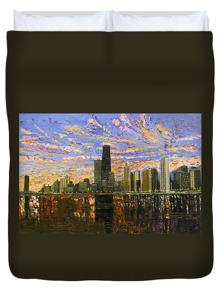 Chicago Duvet Cover by Mike Rabe