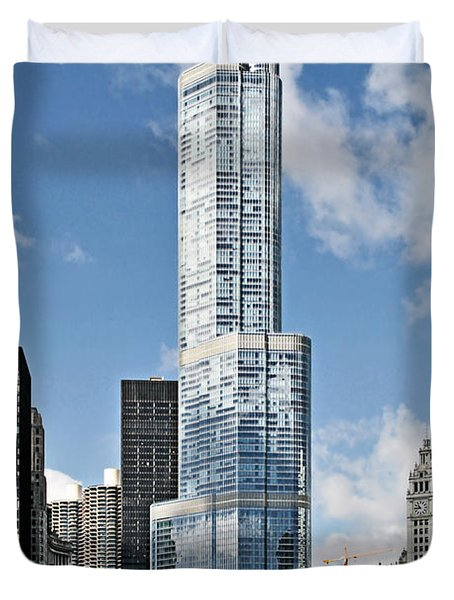 Chicago River - Beauty And Headache Duvet Cover by Christine Till