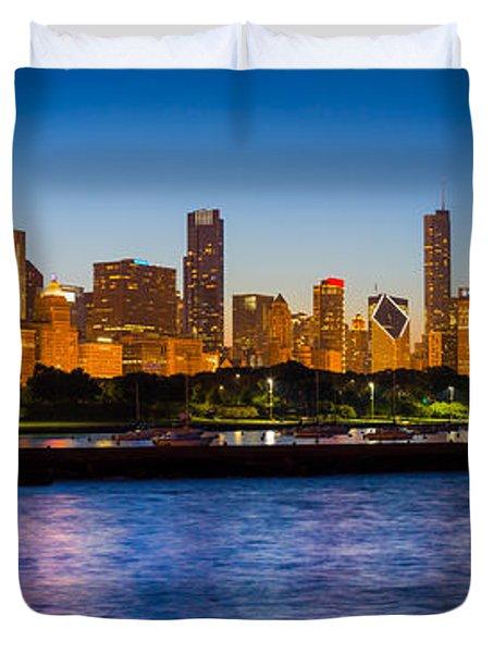 Chicago Skyline Duvet Cover by Inge Johnsson