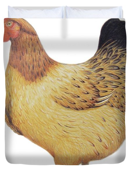 Chicken Duvet Cover by Ele Grafton