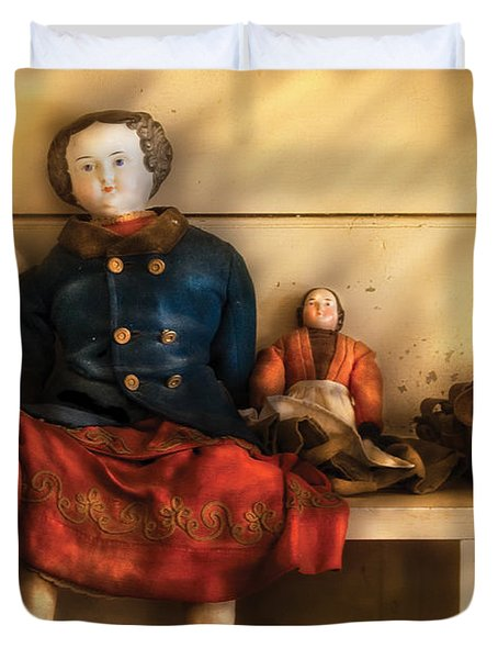 Children - Toys - Assorted Dolls Duvet Cover by Mike Savad