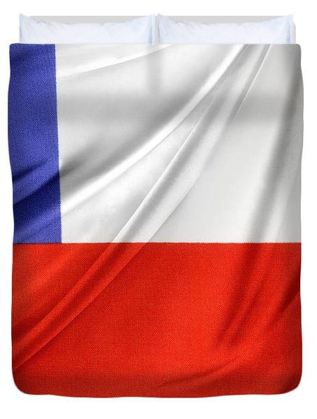 Chile Flag  Duvet Cover by Les Cunliffe